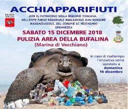"""15 dicembre 2018 – Giornata di Educazione Ambientale """"Acchiapparifiuti"""" a Marina di Vecchiano"""